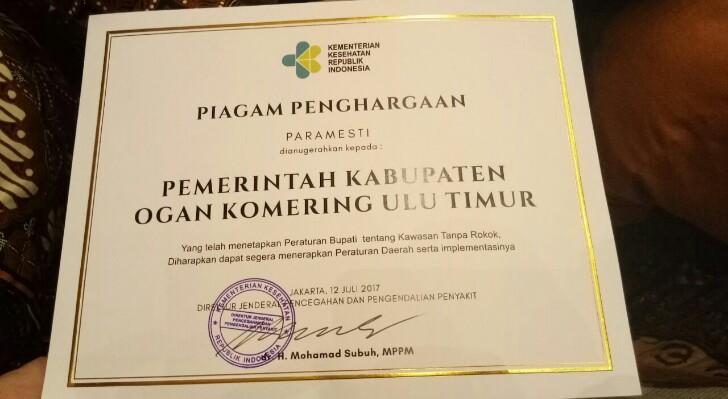 Penghargaan utk Pemkab OKUT3